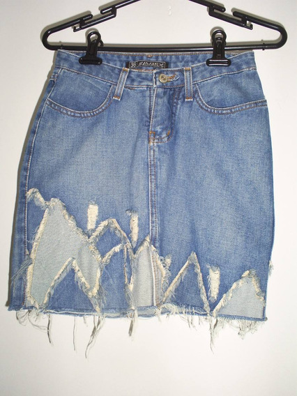 Saia Jeans Mini Da Sawary Tamanho 36