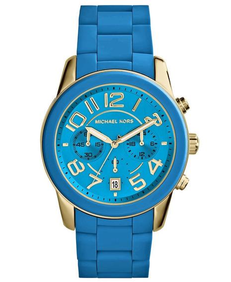 Relógio Michael Kors Mk5891 Orig Chron Anal Blue!!!
