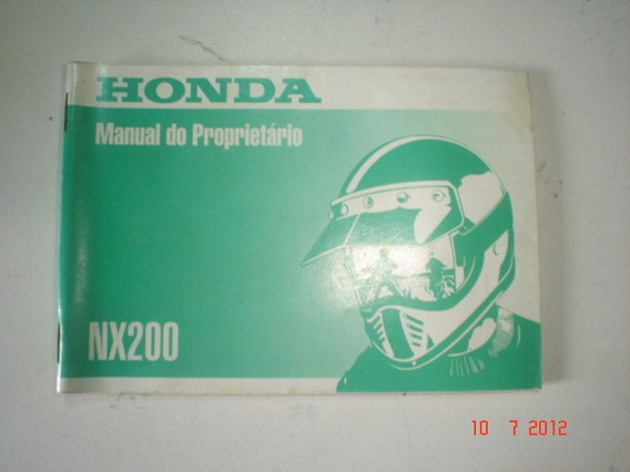 Manual Moto Honda Nx 200 1997 1998 1999 Original Nx200 Trail