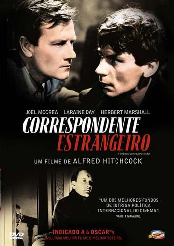 Dvd Correspondente Estrangeiro, De Hitchcock  Joel Mccrea  +