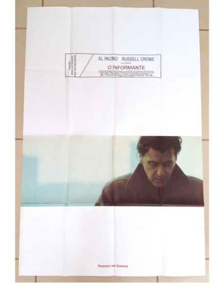 Cartaz Original Cinema Informante Al Pacino Russel Crowe Dvd