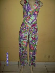 Mc003 - Macacão Estampado Floral Fluity Manequim U