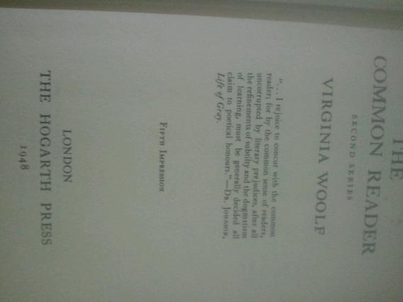 Livro Original Da 5° Impressão De Virginia Woolf De 1948