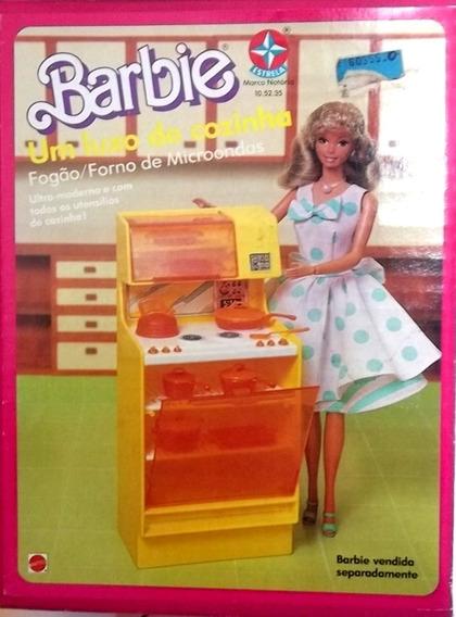 Luxo De Cozinha Para Boneca Barbie Com Caixa Estrela Anos 80