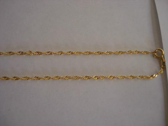 Ivi1388 = Corrente Cingapura Ouro Amarelo 18k !!!