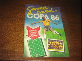 Album De Figurinhas Copa 86 Multi Editora Game Card