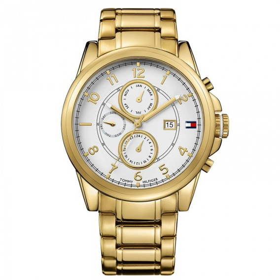 Relógio Tommy Hilfiger Th1710306 Orig Chron Anal Gold!!!