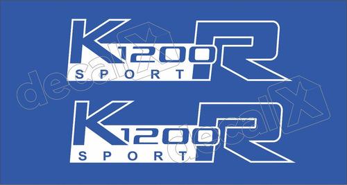 Emblema Adesivo Bmw K1200r Sport Azul Par Bwk1200r06