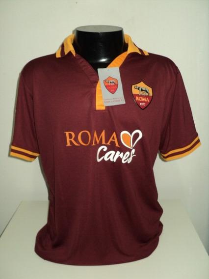 Camisa Roma Home 13-14 De Rossi 16 Patch Lega Calcio Imp