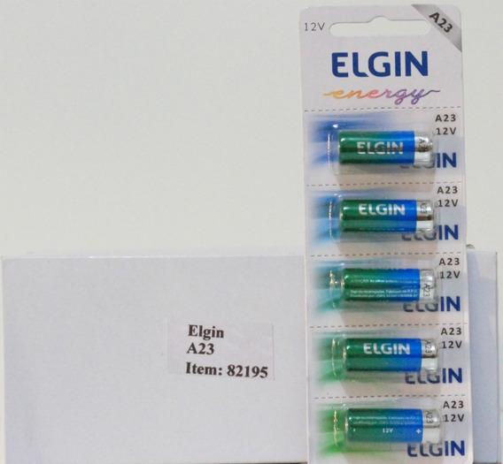 25 Baterias A23 Elgin 12volts Alcalina Em Cartelas De 5 Pçs