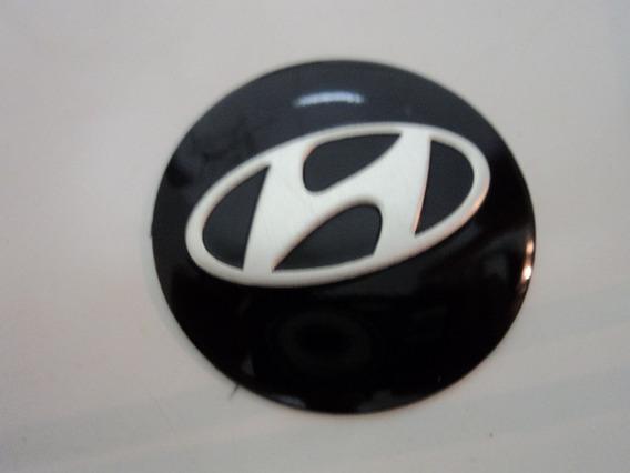 Emblema Adesivo Hyundai Para Rodas Esportivas 55mm