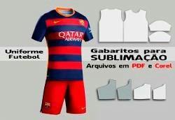 Kit Molde Fut Camiseta E Calção, Gab. Para Sublim. Env.email