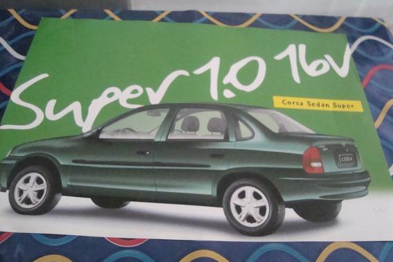 Poster Cartaz Foto Catalogo Chevrolet Corsa Wind Sedan Super