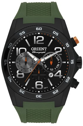 Relógio Orient Myspc002 Original Cronógrafo Mostrador Preto
