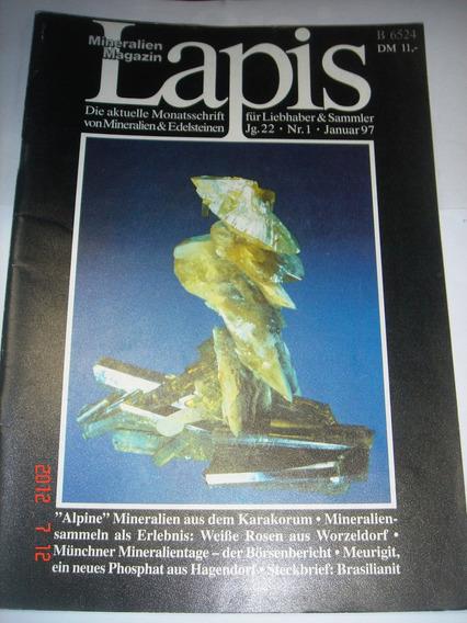 Revista Lapis Januar/1997 N.1 (importada Alemã) Mineração
