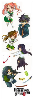 Plancha De Stickers De Anime De Highschool Of The Dead Zombi
