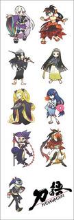 Plancha De Stickers De Anime De Katanagatari