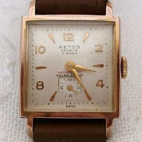 Relógio Suiço Feminino Aetos Geneve 17 Jewels
