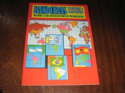 Album De Figurinhas Bandeiras , Povos E Mapas Do Mundo Ebal
