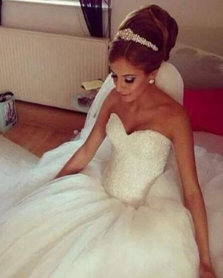 Vestido Noiva Princesa Bling Cristal Casamento Importado