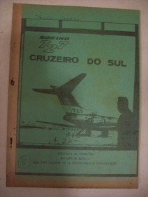 Avião Boeing 727 Cruzeiro Do Sul Manual