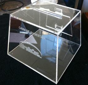 Urna Ou Caixa De Sugestão Em Acrílico - Pirâmide C/ Gravação