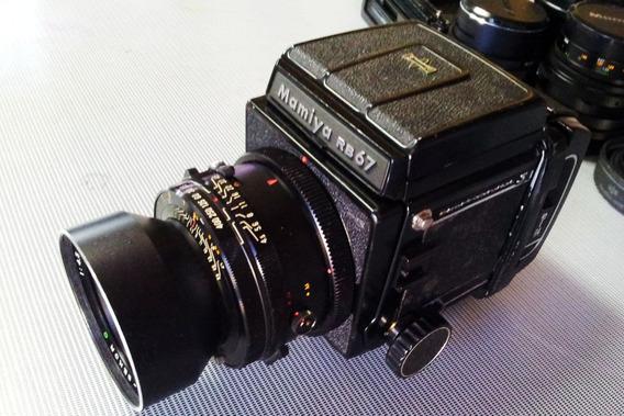 Câmera Mamya Rb 67 Completa Com 3 Lentes--só Vendo Completo.