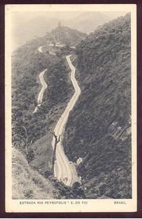 Cartão Postal Estrada De Petrópolis Rio De Janeiro