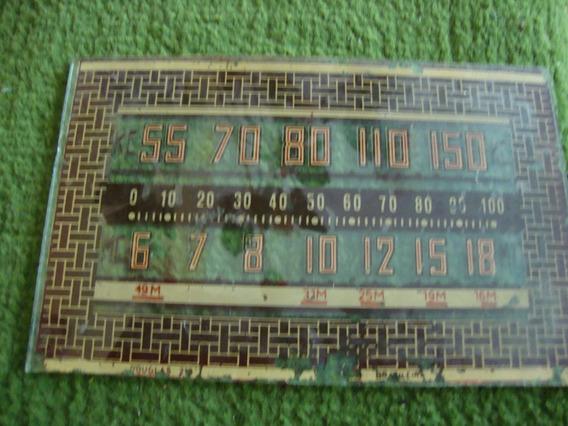 Dial De Rádio Valvulado Marca Douglas 210
