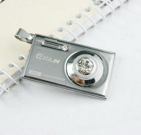 Pingente Câmera Fotográfica Design Digital - Com Strass