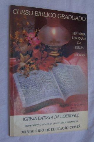 * Livro - História Literária Da Biblia - Religioso