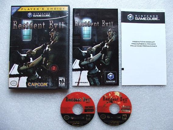 Resident Evil Remake Game Cube Original Americano Com Caixa