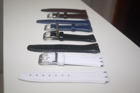 Kit (02) Pulseiras Swatch 17mm Preta E Azul