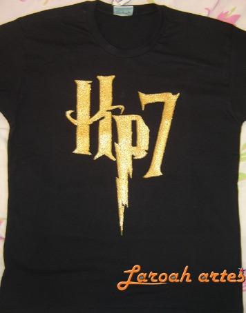 Camiseta Harry Potter Logo Hp7 Lana Camisetas