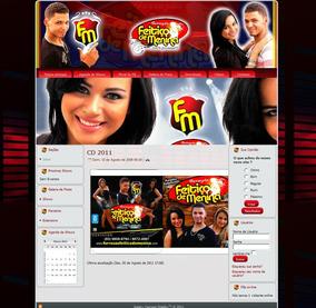 Site Para Cantor Banda Artista 2018 100% Admin Pelo Cliente