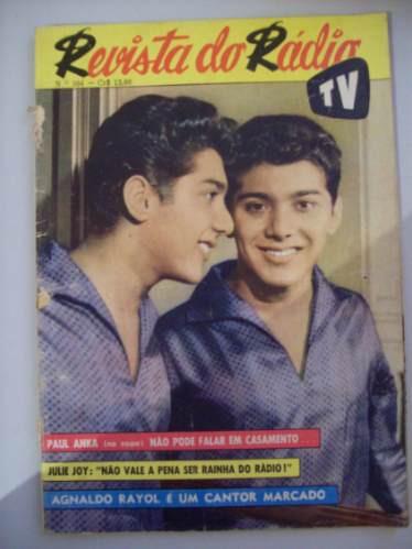 Revista Do Rádio 1961 - Jolie Joy,agnaldo Rayol,paul Anka