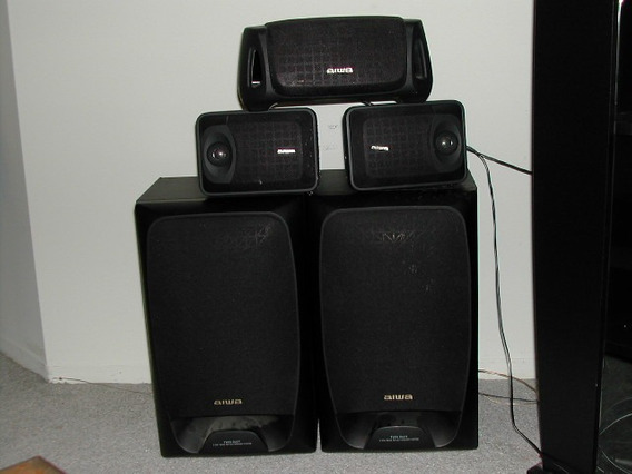 Aiwa 5.1 120w Rms 5 Caixas Acústicas Home Theater