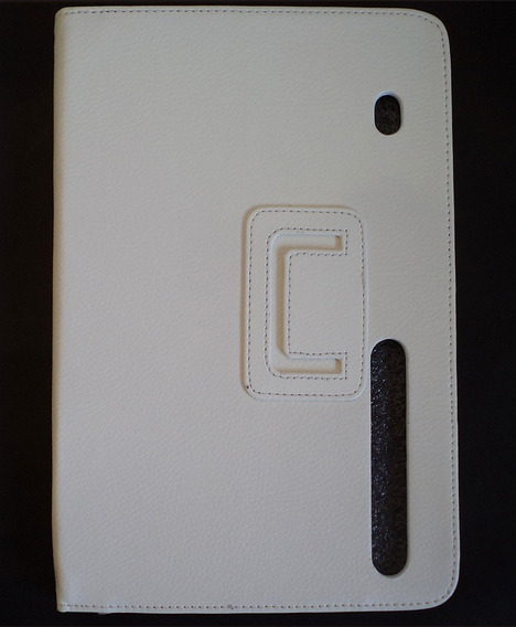 Capa Case Estojo De Couro Motorola Xoom Marrom E Branca