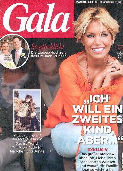 Sylvie Van Der Vaart : Capa + Matéria Da Gala