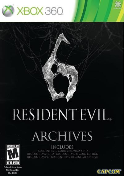 Jogo Resident Evil 6 Archives Jogos + Filme Ntsc Xbox 360