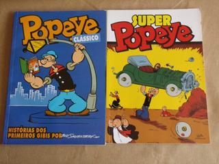 Lote 2 Hqs Popeye - Popeye Clássico E Super Popeye