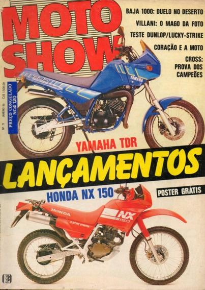 Motoshow N°71 Yamaha Tdr Honda Nx 150 Teste Dunlop