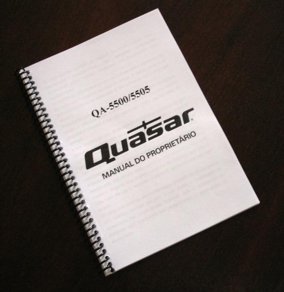 Quasar Qa-5500 Manual De Instruções