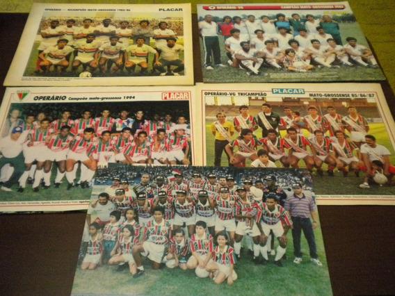 Lote Com 5 Posters Operário Campeão Mato Grosso Placar
