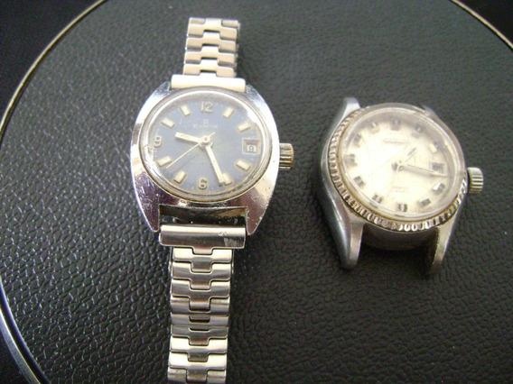Lote 02 Relógios Pulso Feminino Automático Citizen - Edox