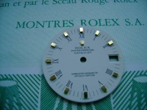 Rolex Medio Mostrador (dial) Branco C/ Numeral Romano E Ouro