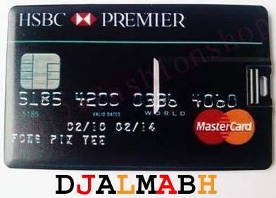 Pen Drive 8gb Personalizado Cartão De Crédito Hsbc Premier
