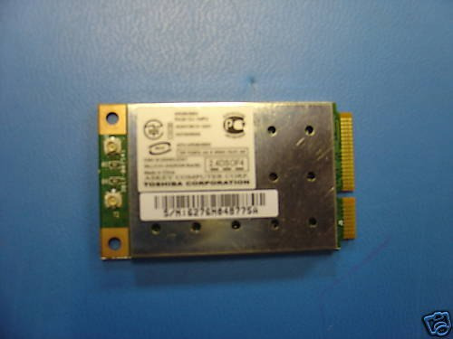 Placa Mini Pc Wirelles Notebook Toshiba Pa3613u-1mpc
