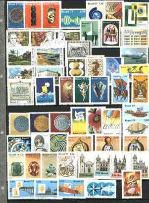 Ano -1977 - Completo Em Comemorativos - 57 Selos -