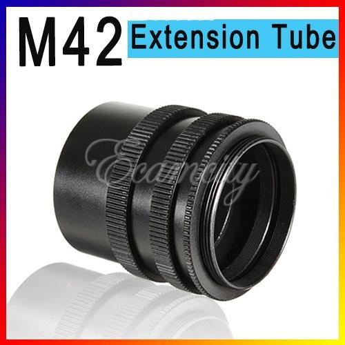 Extensão 42mm 3 Aneis Para Camera Fotografica